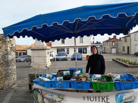 Vente de fruits de mer le dimanche matin